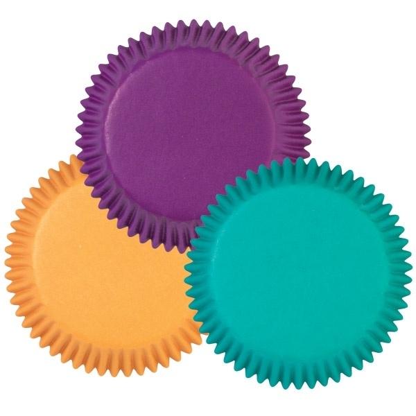 Wilton Cupcake vormpjes Goud, Groen en Paars 75st