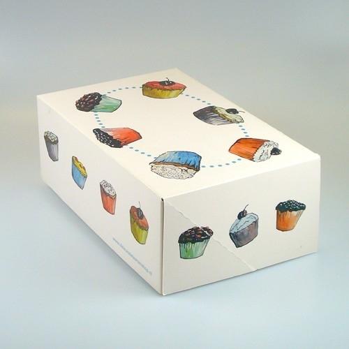 FunCakes Cupcake doosje 6 zonder venster met insert 24x16x8cm