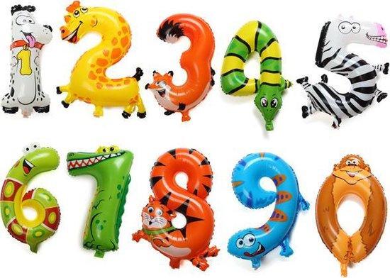 Verjaardags Cijfer Ballonnen Dieren