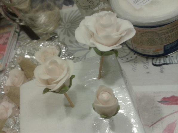 Prachtige rozen van fondant