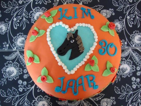 Verjaardagstaart paarden taart