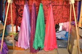 Prinsessenrok, glitters in de stof, dubbele laag. Diverse kleuren