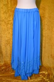 Dubbele lagen rok, kraal/pailletten versiering op de rok. Diverse kleuren