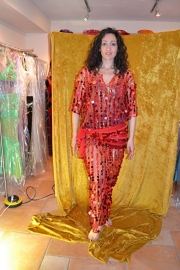 Baladi jurk - grote pailletten - diverse kleuren