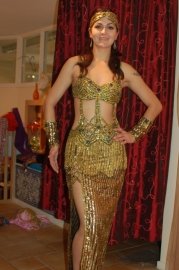 Gouden 2-delige jurk