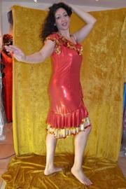 Melaya jurk - rood met open schouder