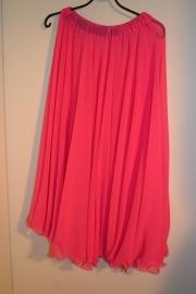 Prinsessenrok, enkele laag. Wijde rok, zoom is golvend. Diverse kleuren