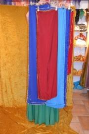 Sluier met paillettenrand; diverse kleuren
