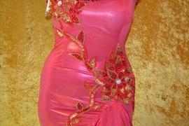 Melaya jurk met goudkleurige versiering - diverse kleuren