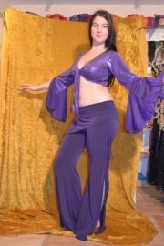 Lycra broek met heupsjaaltje - diverse kleuren