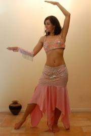 Roze/zilveren kostuum