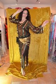 Baladi jurk - streepstof en munten