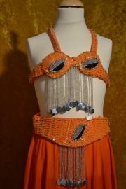 Kostuum Oranje/zilver