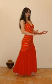 Rode `charleston` jurk