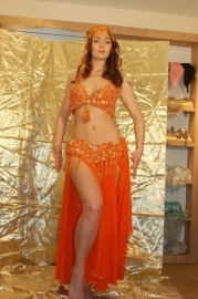 Oranje BH + riem