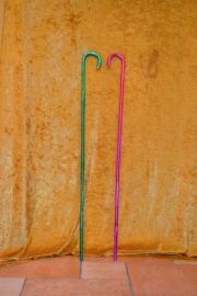Dansstok, gekleurd tape