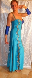 Koningsblauwe/turquoise jurk