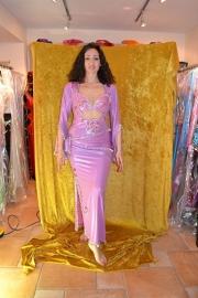 Baladi jurk. Lila/fuchsia