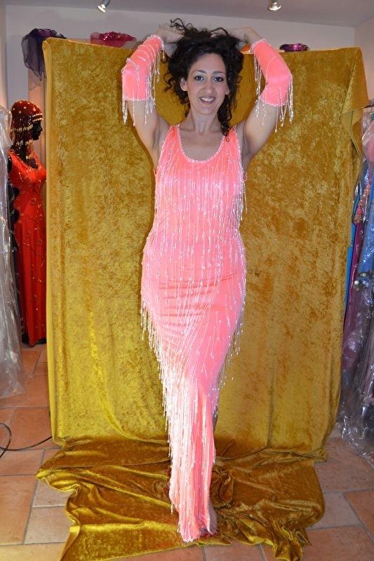 Charleston jurk - roze