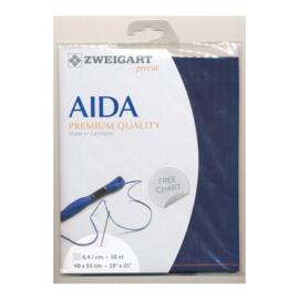 Aida 16 count Donkerblauw (589 ) Zweigart - 48 x 53 cm