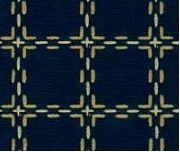 Beiersbont Donkerblauw / Beige - afmeting 100 x 160 cm