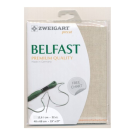 Belfast Light Naturel (052) - 32 count - 12,6 drds - afmeting 48 x 68 cm