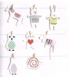 8 Dierenfiguren om te borduren