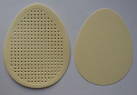 Label EI ZACHTGEEL om te borduren - afmeting 7 x 9 cm