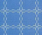 Beiersbont Middelblauw / Wit  - afmeting 100 x 160 cm