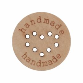 Houten Handmade knoopje ( hartje ) 25 mm