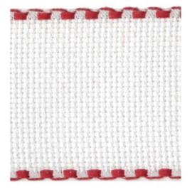 Aida borduurband Wit / Rood 5 cm breed