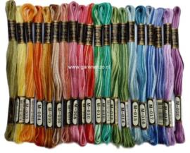 Set van 20 kleuren gemêleerd Venus borduurgaren
