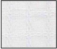 Beiersbont Wit / Wit  - afmeting 100 x 160 cm