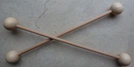 Houten ophangstokje bol 20 cm breed ( 25 mm )
