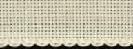 Aida borduurband ecru 10 cm