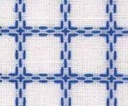 Beiersbont Wit / Blauw  - afmeting 100 x 160 cm