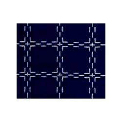 Beiersbont Marineblauw / Wit  - afmeting 35 x 160 cm
