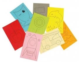 8 Gekleurde Borduurkaarten
