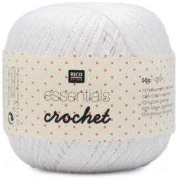 Rico Essentials Crochet Wit - 50 gram