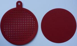 Kerstbal Rood - doorsnede 7.5 cm