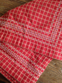 Beiersbont Rood  / Wit - afmeting 100 x 160 cm