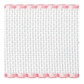 Aida borduurband Wit / Roze 5 cm breed