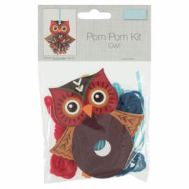 Pom Pom Kit Uil  10 x 11 cm
