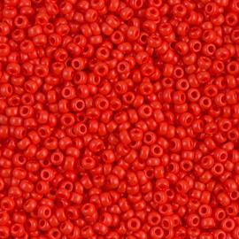 Miyuki Rocailles 11-0407 Vermilion Red Opaque- 10 gram