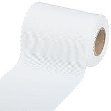 Restje Aida borduurband Wit - 10 cm breed x 78 cm
