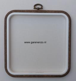 Borduurring / lijst houtnerf Vierkant - afm. 15,7 x 15,7 cm