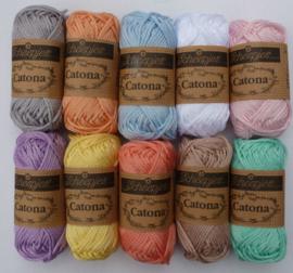 Mini bolletjes Catona Zachte kleuren - 10 stuks