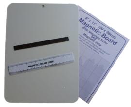Magneet bord met 2 magneten - 20 x 28 cm