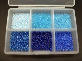 Miyuki rocailles - assortiment Blue 2