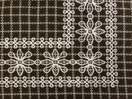 Beiersbont Zwart / Wit  - afmeting 10 x 160 cm
